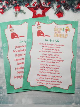 Personalised Elf on the Shelf Hello & Goodbye Letters - NEW ELF